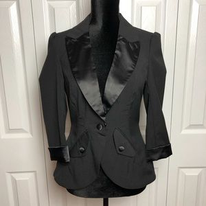 Ali & Kris Black Dress Blazer, Medium
